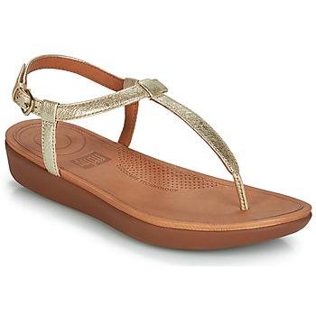 Čevlji  Ženske Sandali & Odprti čevlji FitFlop TIA Pozlačena