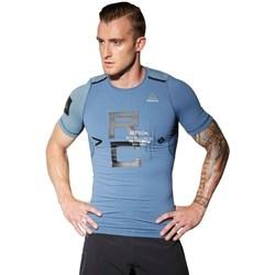 Oblačila Moški Majice s kratkimi rokavi Reebok Sport Combat Rash Guard Modra