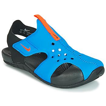 Čevlji  Dečki Sandali & Odprti čevlji Nike SUNRAY PROTECT 2 PS Črna / Modra