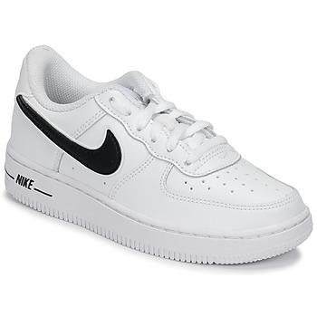 Čevlji  Otroci Nizke superge Nike AIR FORCE 1-3 PS Bela / Črna